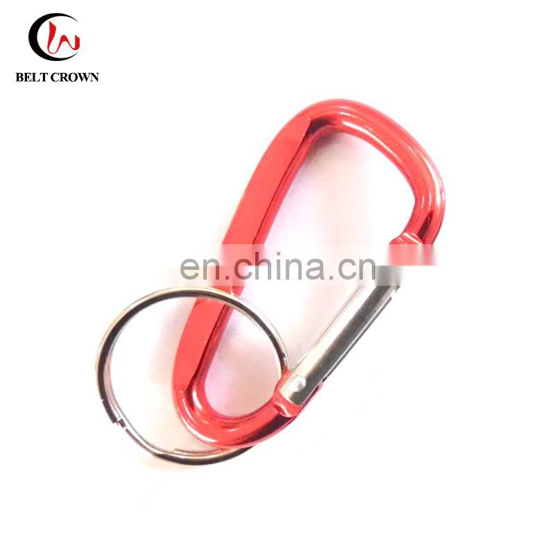 Promotional customized 60mm red carabineer with split