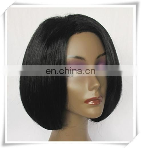 "fashion 6"" natural European straight short Remy human hair wig"