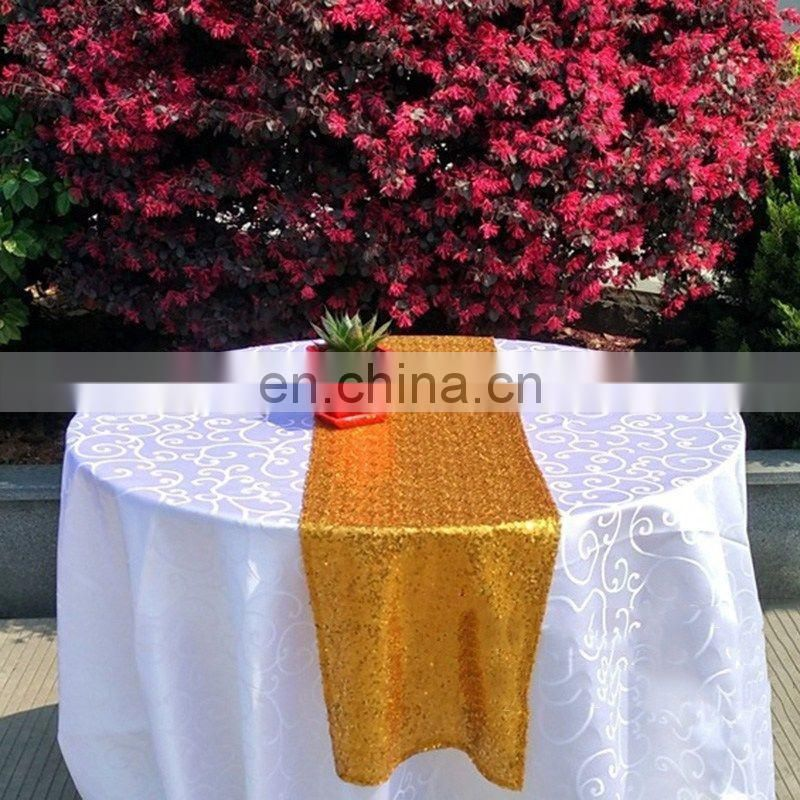 Sequin Glitter Table Runner Cloth For Wedding Home Decor Gold Silver Champagne Color