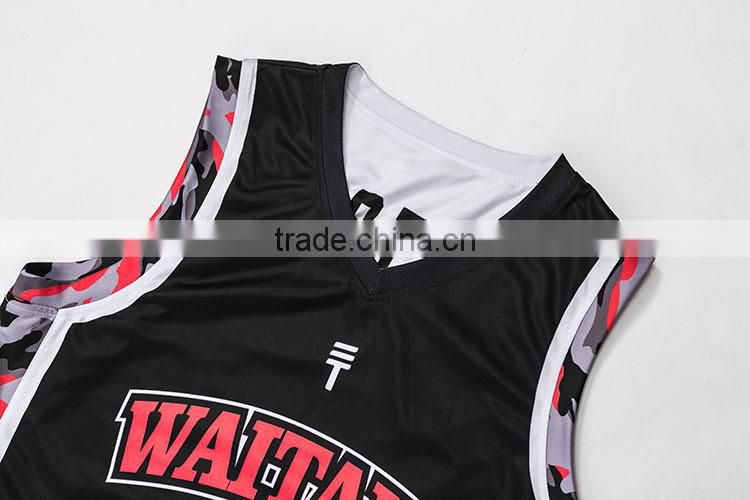 low price sample european style best basketball uniform design color black
