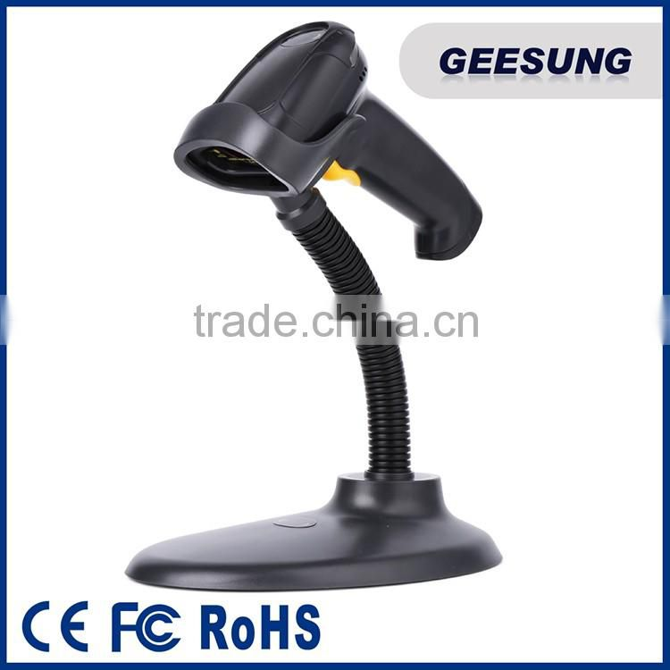 Manual barcode scanner with stand /handhed barcode scanner for supermarket