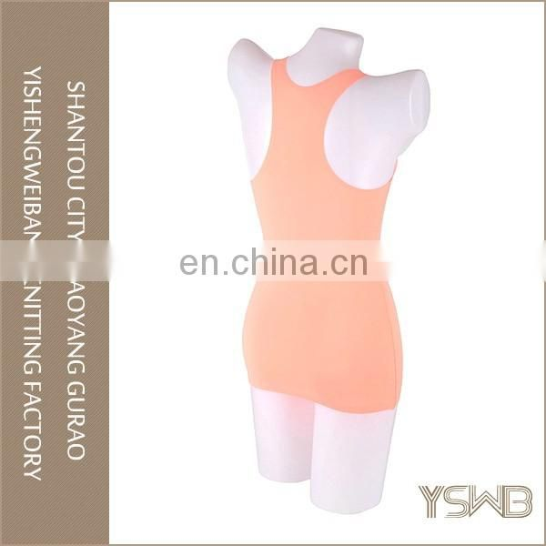 Customized color high quality cotton elastic tight breathable girl camisole