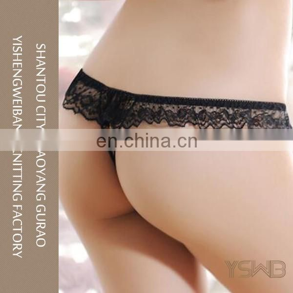Factory direct price lace hot sexy pearl shiny girls panty for women
