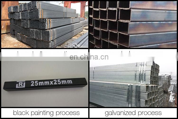 Q195, Q235B, ASTM A36 carbon steel tubes / black steel square pipe