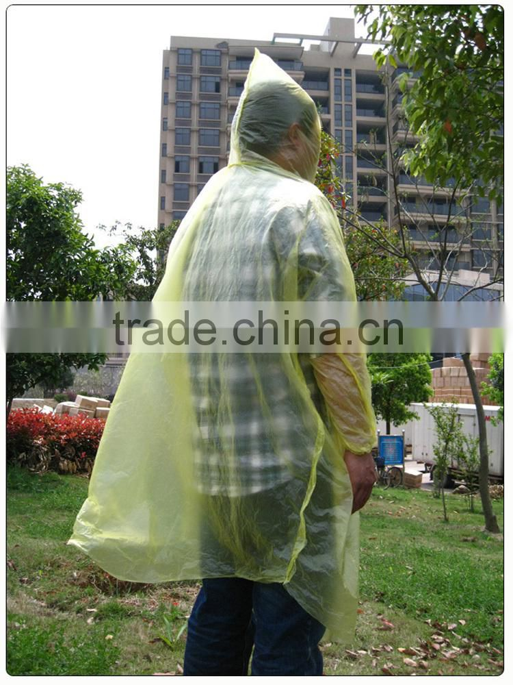 outdoor travel one time use disposable poncho