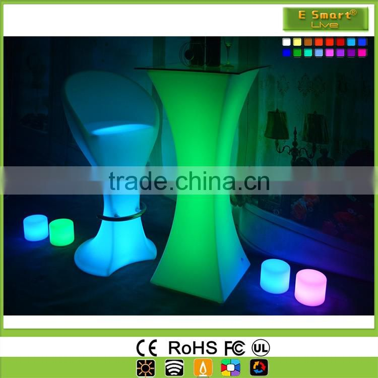 battery source small pretty waist designed portable party illuminated led spandex glow cocktail tables