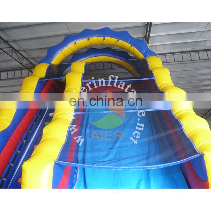 outdoor playground inflatable pool slide / blue telescopic slide for adult / fiberglass water slide
