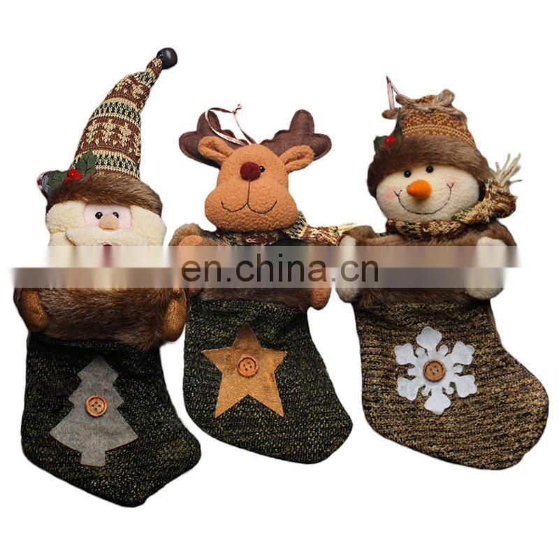 34CM Medium 3D Personalized Craft Cute Decoration and Gift Bag Christmas Stockings - Snowman