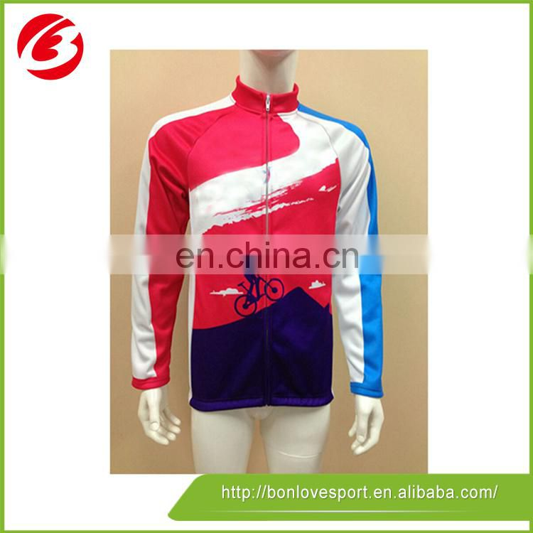 Any Team Colorful Long Sleeve Cycling Jersey