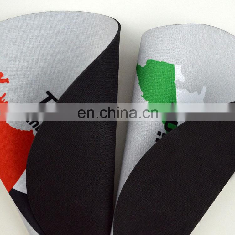 large size rubber material mouse pad fabric