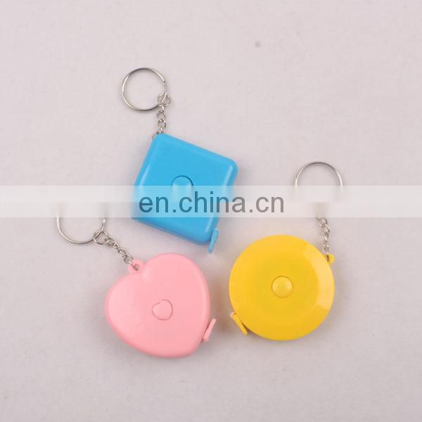 Portable mini Power Return Compact Tape Measure Keychain