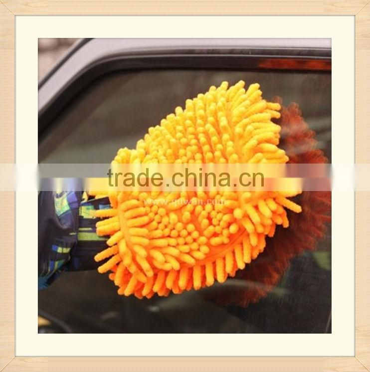 Factory Direct most worth buying microfiber small chenille car cleaning gloves & blocks