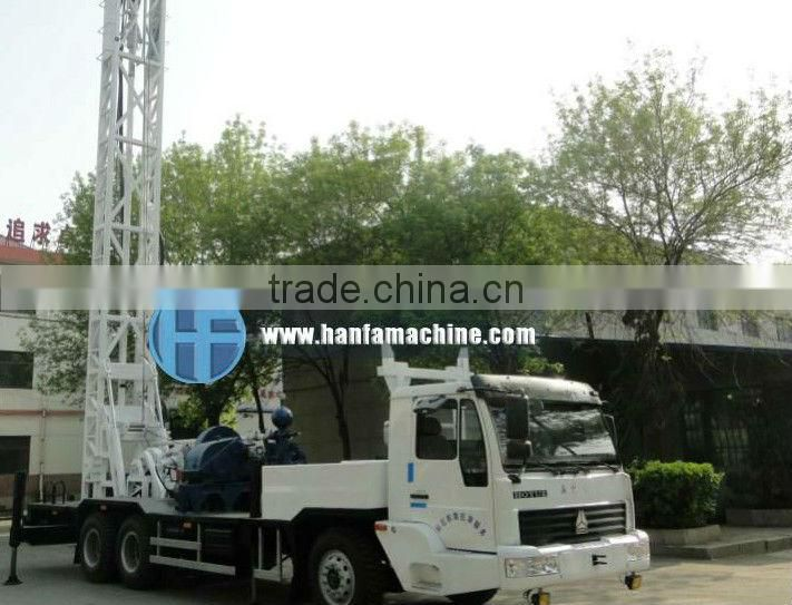 big diameter drilling machines HFT350B truck water well drilling rig machine with Strong compressor force