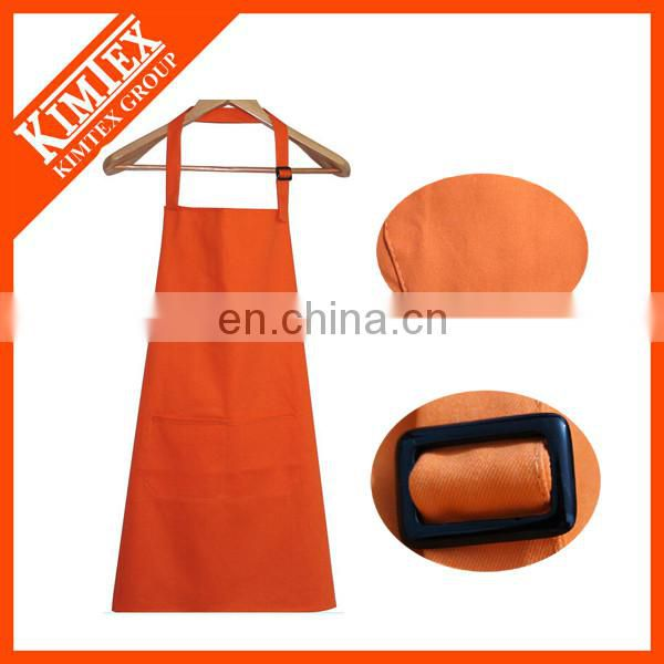 100% cotton plain white long aprons with embroidery logo