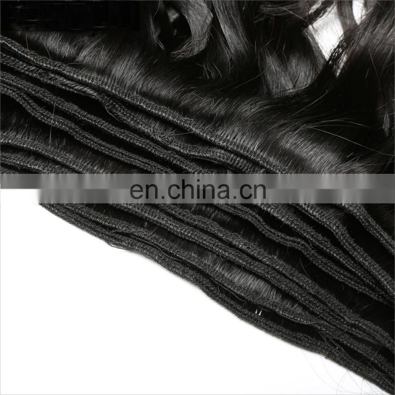Good Feedback 100% Natural Human Hair Double Weft Beautiful Hair Wave Wave Collection Hair