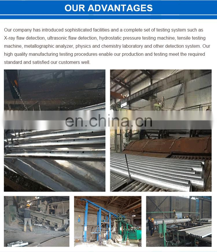 a53 grade b 16 gauge erw hot galvanized aluminum seamless drain irrigation pipe tube