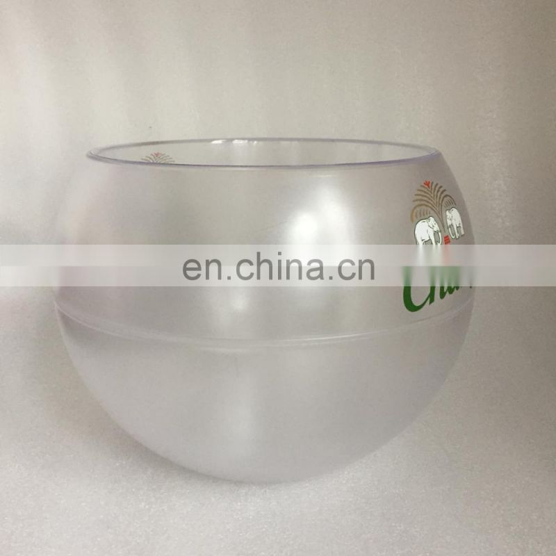 food grade plastic beer bottle cooler ice bucket