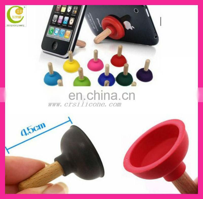 Creative new fashionable double sucker silicone unique cell phone holder