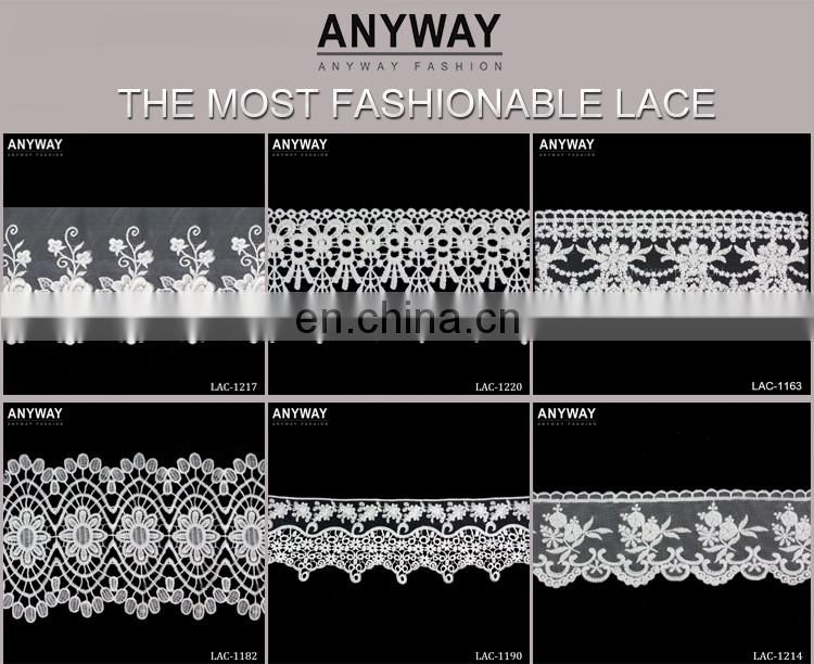 Fashion hot sale white lastest design lace for women
