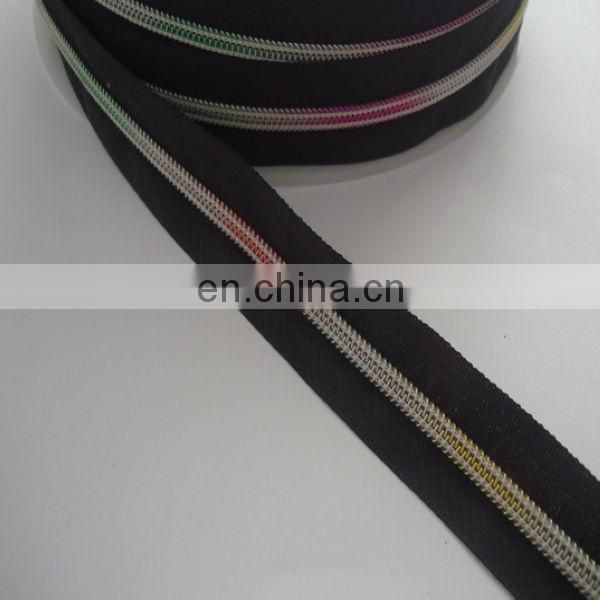 2014 china hot sell product colorful teeth nylon zipper for wholesale