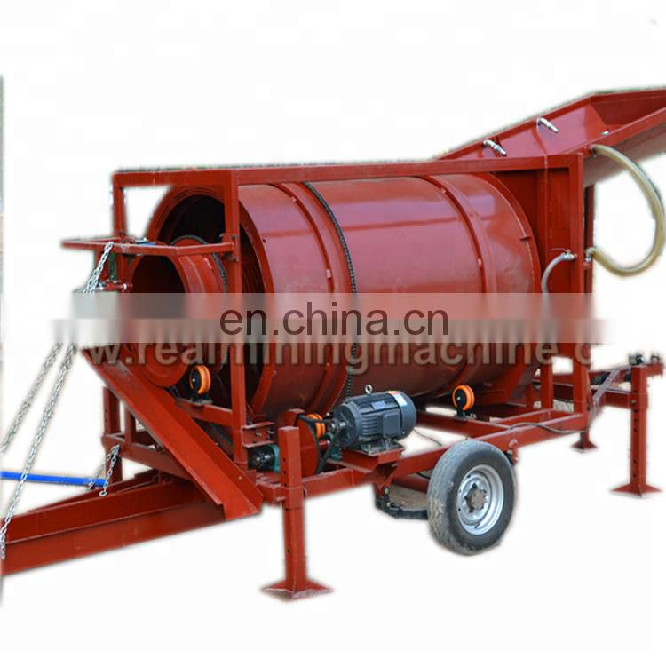 Good quality and low cost China manufacture gold mining equipment washing machines gold trommelplant Image