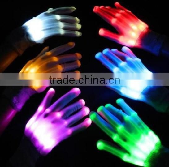 New design LED Light Gloves / finger lighting gloves / led flashing gloves