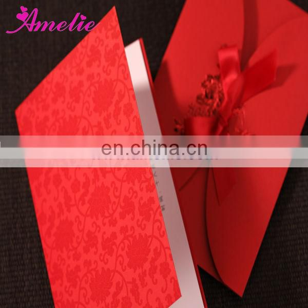 ACW1049 Red Color Wholesale Promotion Party Invitation Card