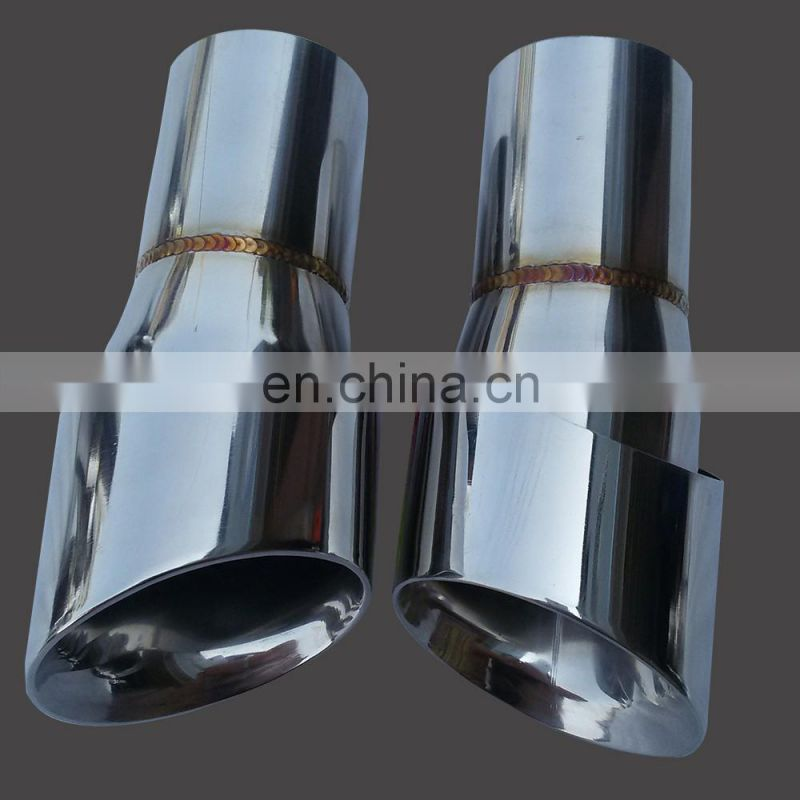 Stainless Steel With Titanium Dual Outlet Exhaust Tip