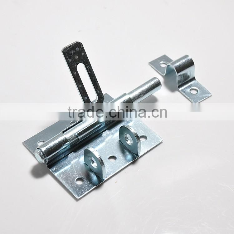 gate latch hardware for exterior door with safe environment