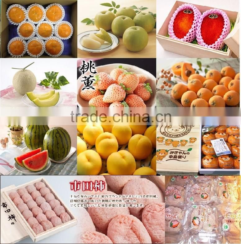 sweet and Japanese apples and banana fruit for fruit importer
