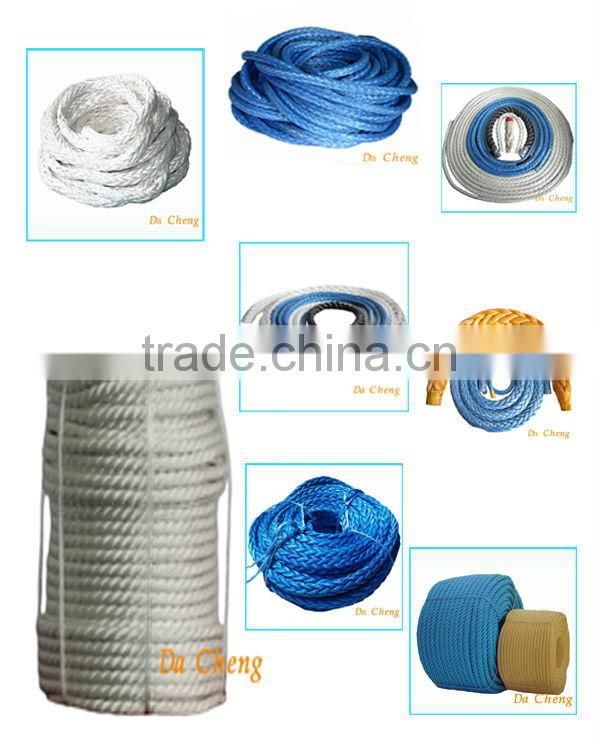 mooring rope for ship using high strength & light weight