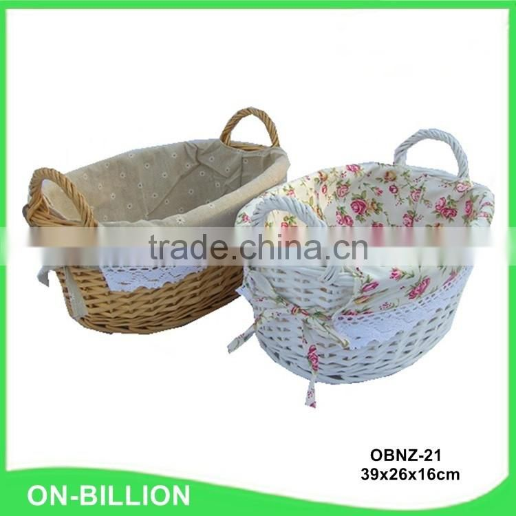 Natural decoration wicker kids colorful baskets