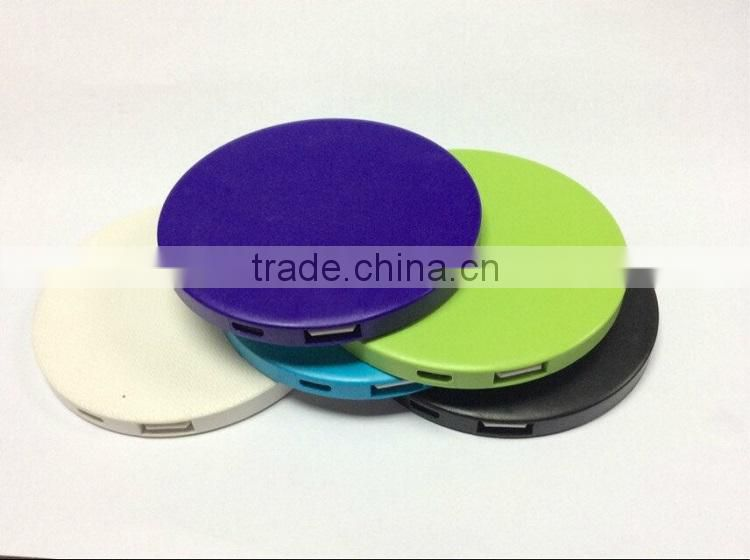 Portable 2000mah power bank, make up mirror power bank, cosmetic power bank for lady