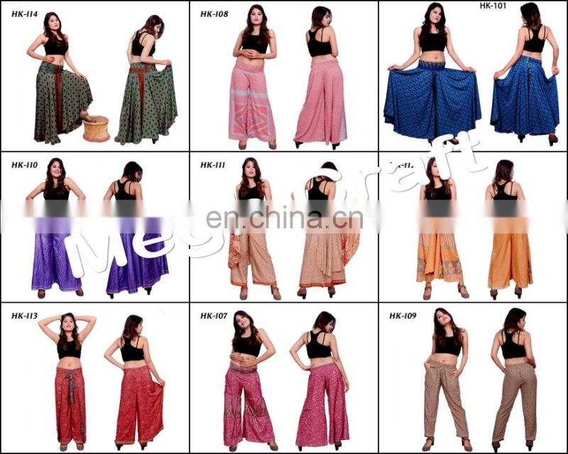 Womens Palazzo Boho Evening High Empire Waist- Designer Wide Leg Long palazzo Pants- Women Boho Long Pants