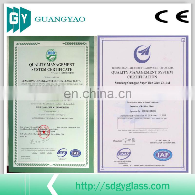 1.8mm clear sheet glass with CE, ISO, BV