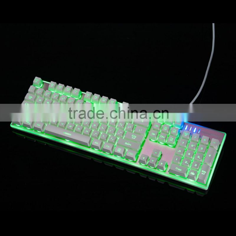 RGB Waterproof backlight computer keyboard USB wired professional laptop gaming keyboard