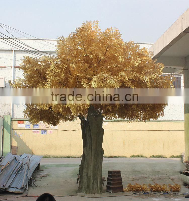 large fake ficus tree indoor /outdoor factory artificial gloden ficus tree