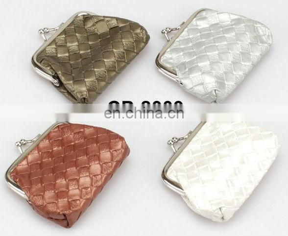 promotional pu fashion design coin purse