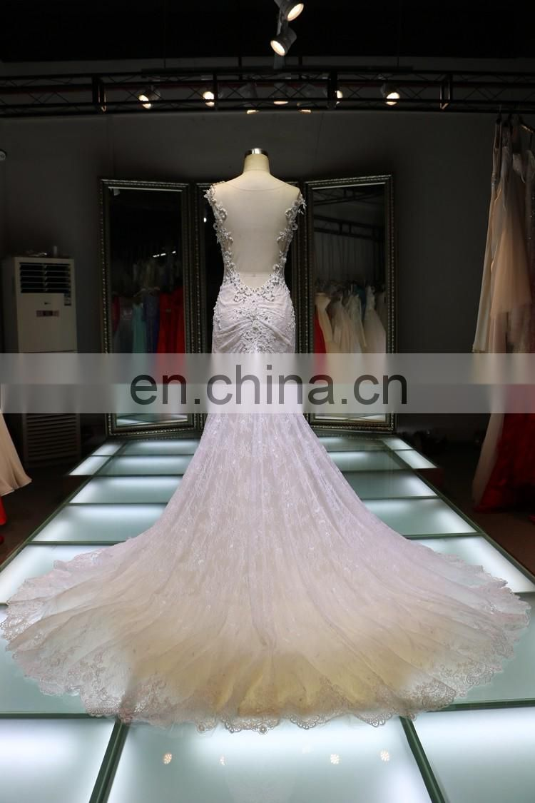 women dress bridal gown 2017 evening party dinner cheap mermaid wedding dress tailor