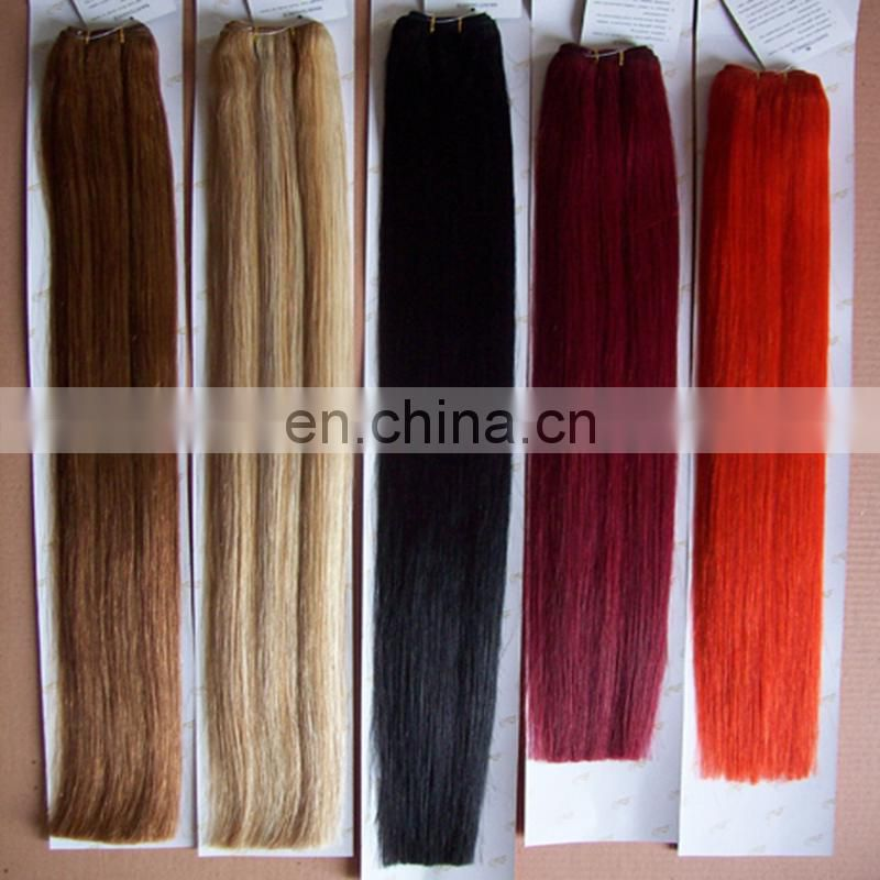Alibaba gold supplier supply human hair weaving machine sew brazilian hair weft wholesale 100% real human hair extensions