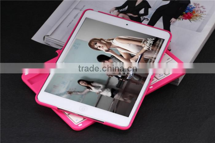 Brand Portable Slim Mute Swivel Flip Stand Wireless Bluetooth Keyboard Smart Covers For Apple ipad mini 1/2 Retina ipad 2 3 4