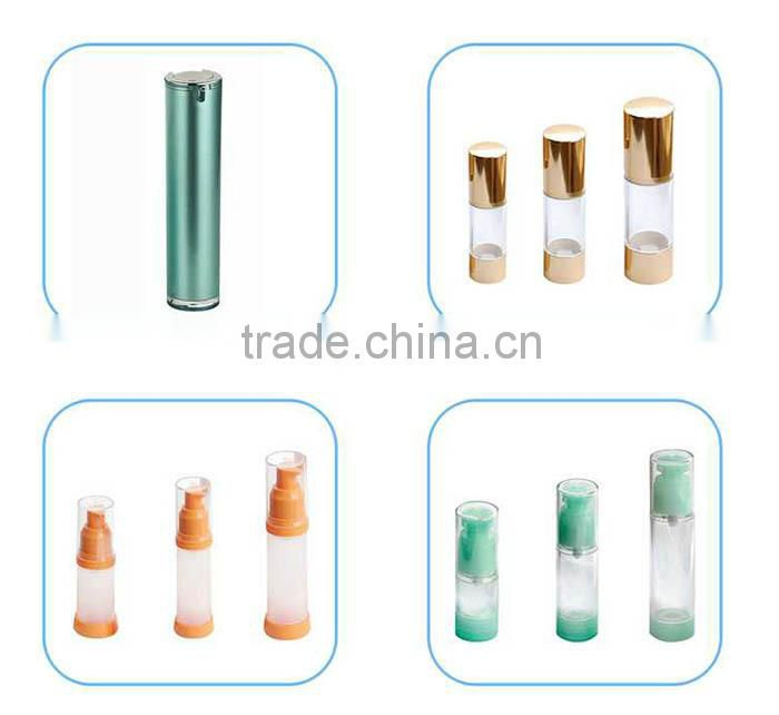 airless tubes cosmetic mini bottle in travel or small sample