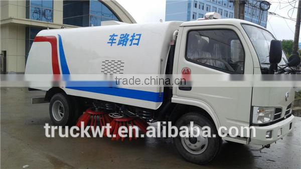 hot sale dongfeng 6 wheels 3tons new road sweeper