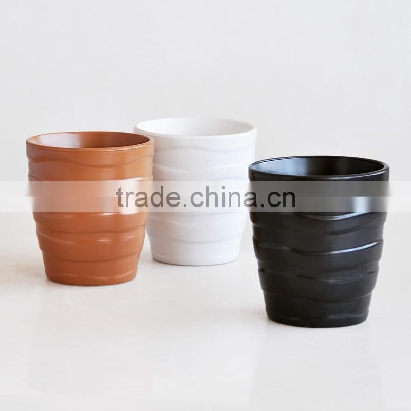 flower pot,stoneware with solid color