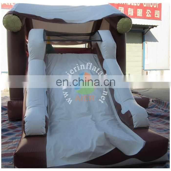 New design for Christmas decoration inflatable boucer slide