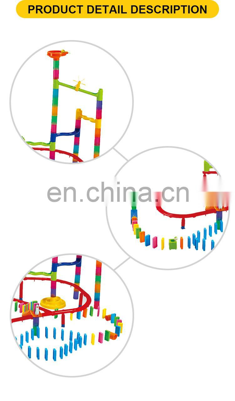 Educational mini plastic domino toy 174pcs
