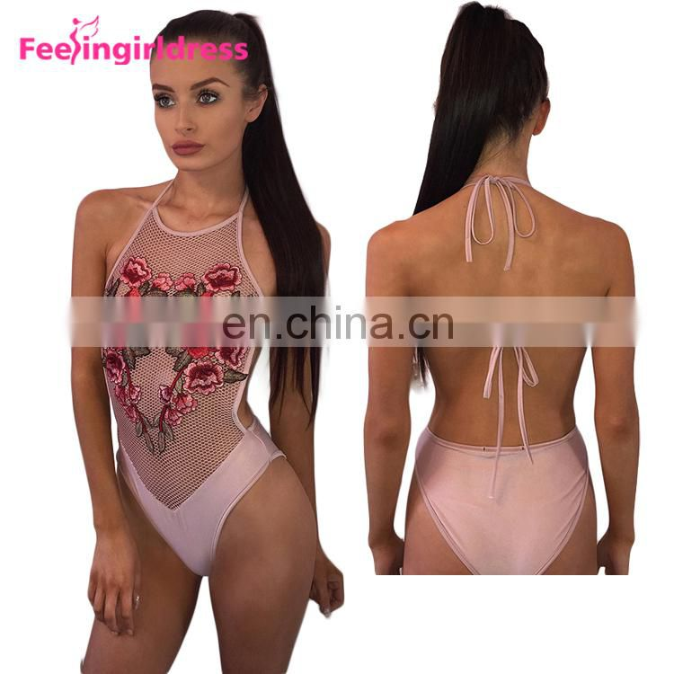 One Piece Embroidery Sex Women Swimsuit Wholesale Brazilian Bikinis