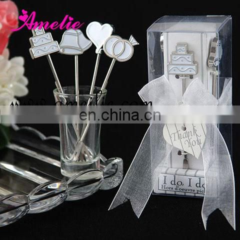 A07122 Stainless Steel Wholesale Fruit Fork Wedding Table Party Gifts for Guests