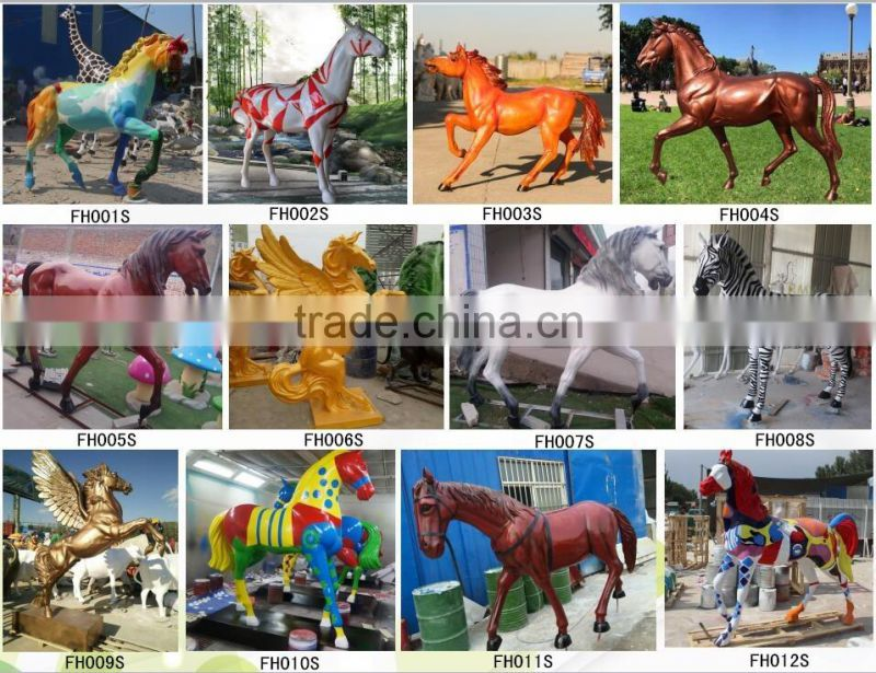 farm decorative life size horse statue fiberglass for sale NTRS647S