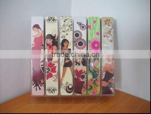 plastic pp nail file Bath gift set/paper nail file beauty bath set